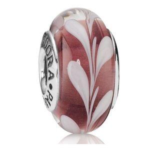 Pandora Jewelry - Pink/ purple pandora charm - murano glass